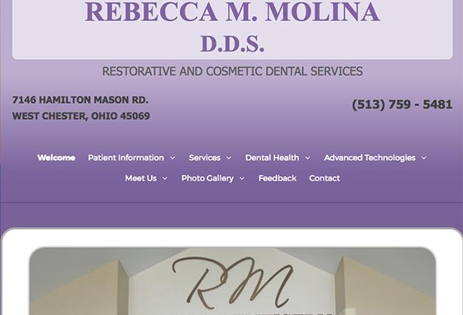 Rebecca M. Molina DDS website